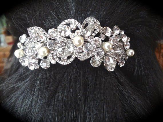 pearl-and-rhinestone-hair-barrette-hair-accessory-barrette-swarovski-pearls-wedding-hair-piece-hair-jewelry-wedding-accessories