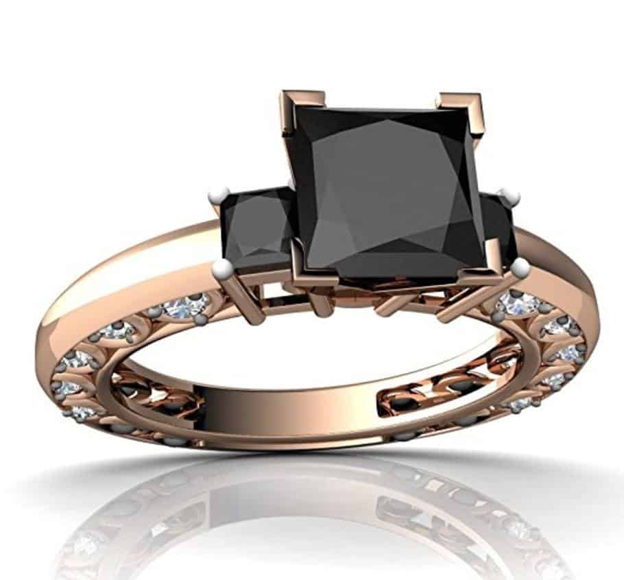 5 onyx engagement rings or wedding bands for the leo in your life - Black Onyx Wedding Ring