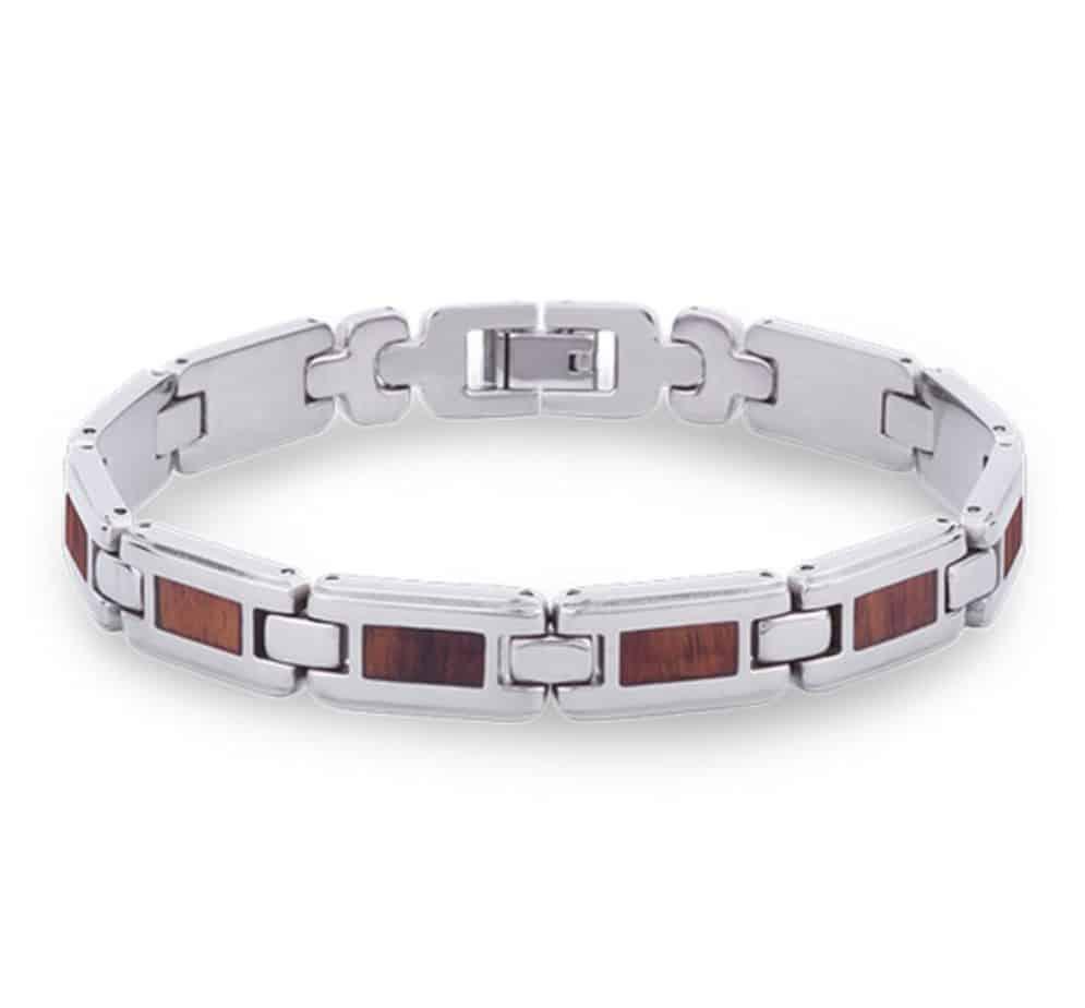 The Link Koa Wood Inlay Bracelet