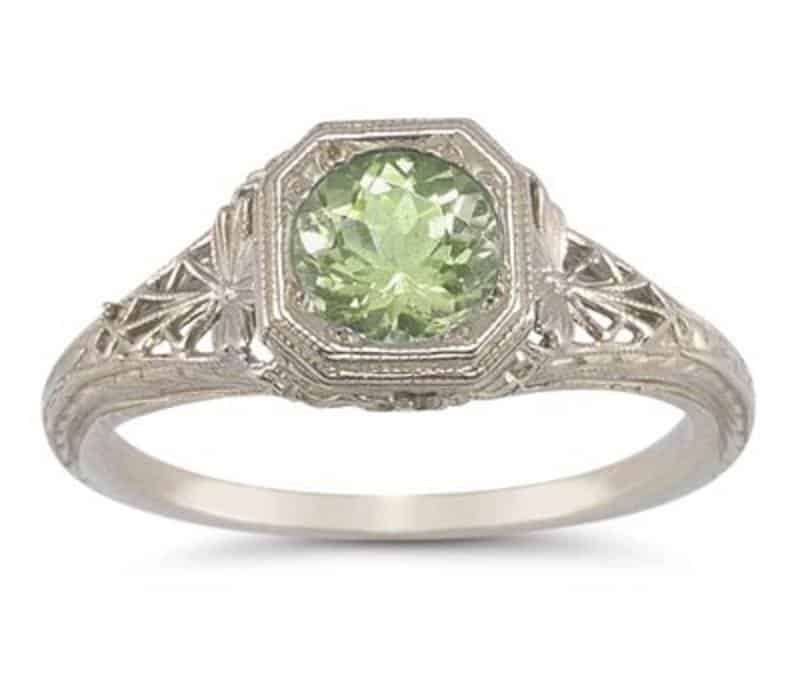 7 peridot rings for your august sweetheart