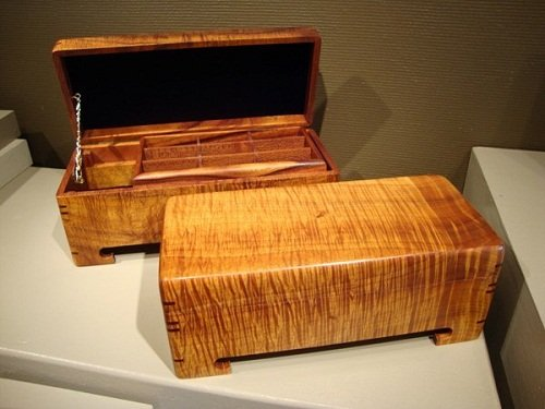 koa wood jewelry box