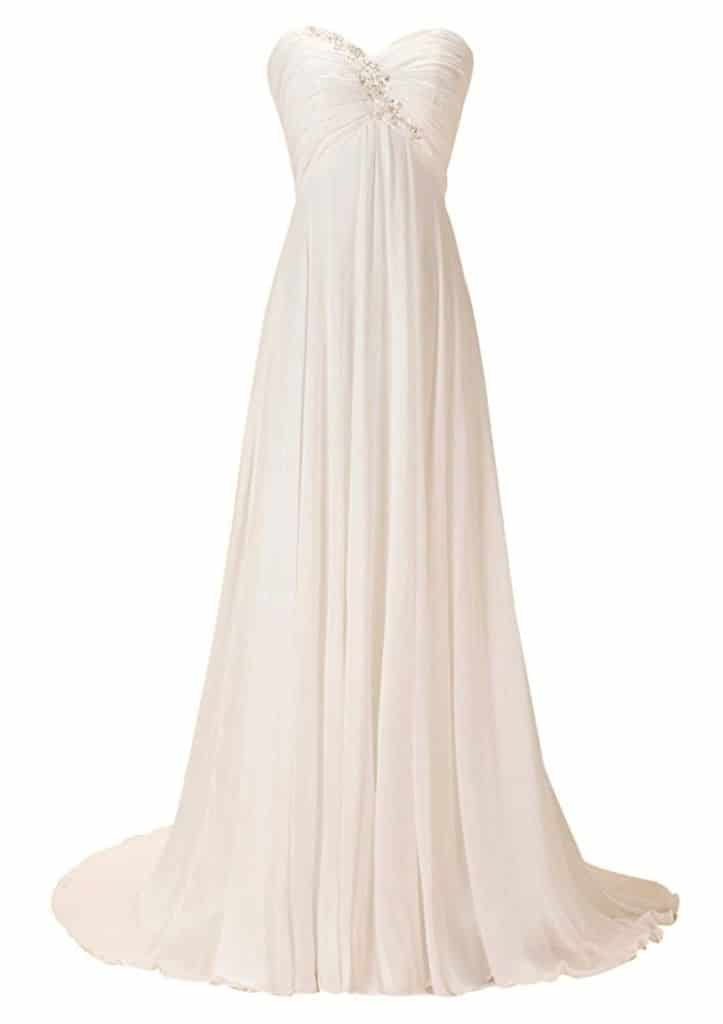 GEORGE DESIGN 2017 New Sweetheart Empire Ruched Beach Wedding Dress