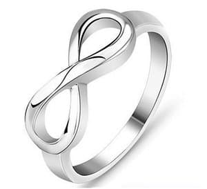Silver Stainless Steel Infinity Symbol Wedding Band Engagement Rings