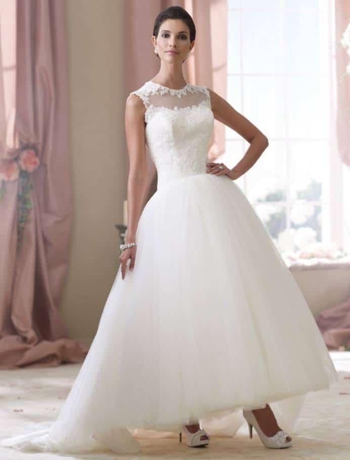 ballerina length wedding dress