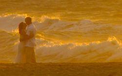 best beach wedding gown