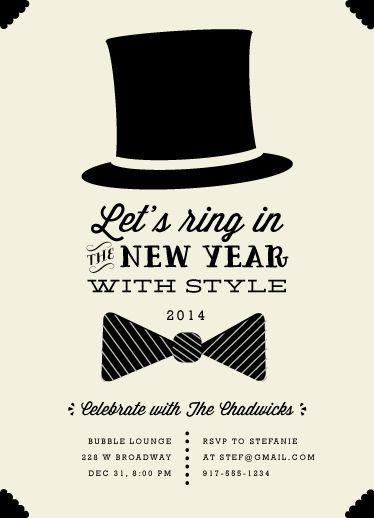 black tie event invite