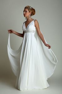grecian wedding dress neckline