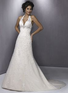 halter wedding dress neckline