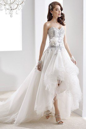 hi lo wedding dress