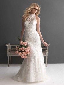 high neckline wedding dress