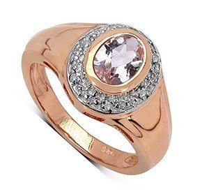 rose gold plated morganite ring