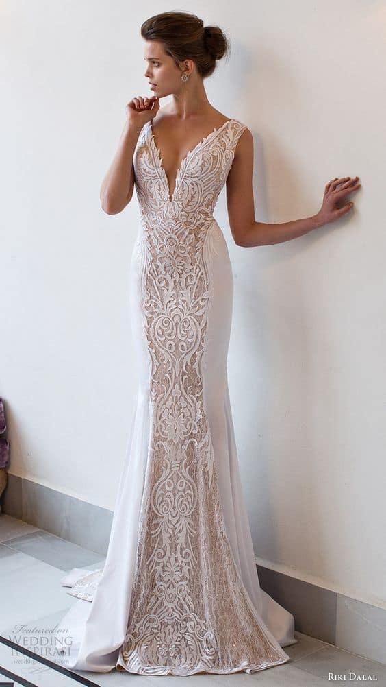 Wedding dress types what style should i choose for my for Around the neck wedding dresses