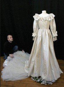 auction site wedding dress