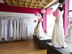 consignment shop wedding dress