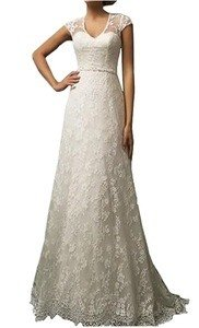 honey qiao vintage lace country wedding dress