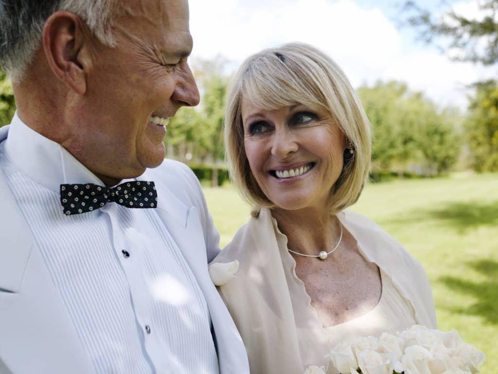 mature bridal style