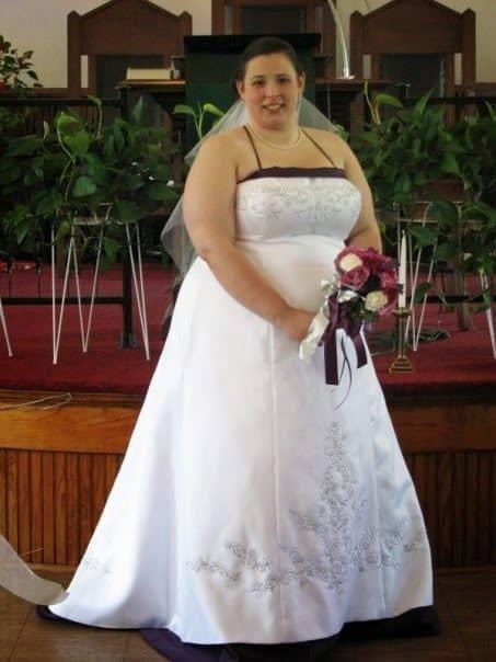 plus size bride wedding gown