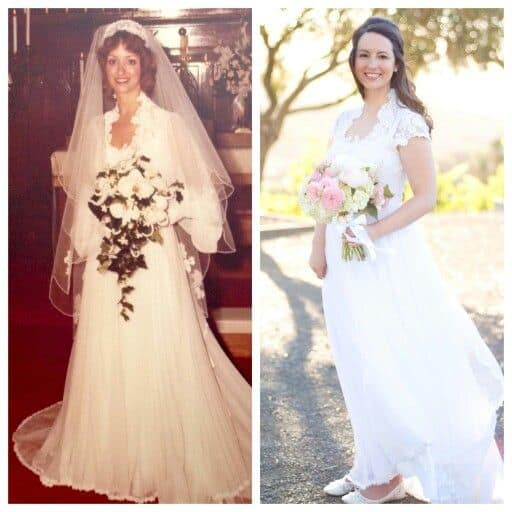 redesigning vintage wedding gowns