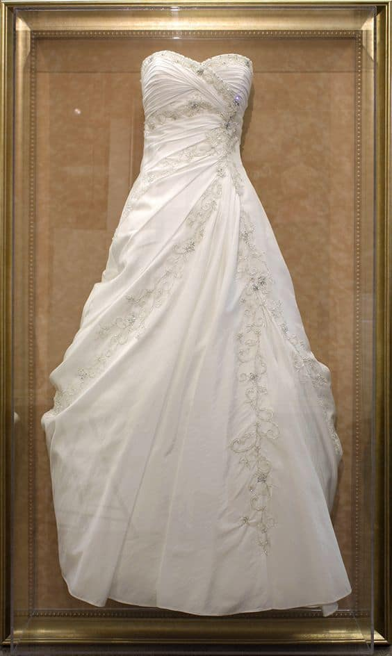 After the wedding wedding dress care and options for Wedding dress preservation company