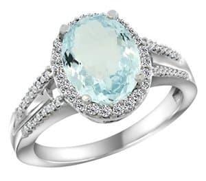 aquamarine oval cut engagement