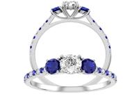 diamond and sapphire brdal ring