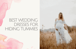 best wedding dresses for hiding tummies