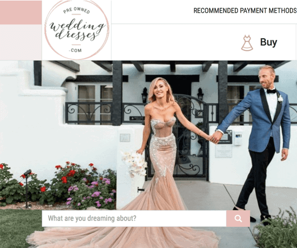 used wedding dress sites