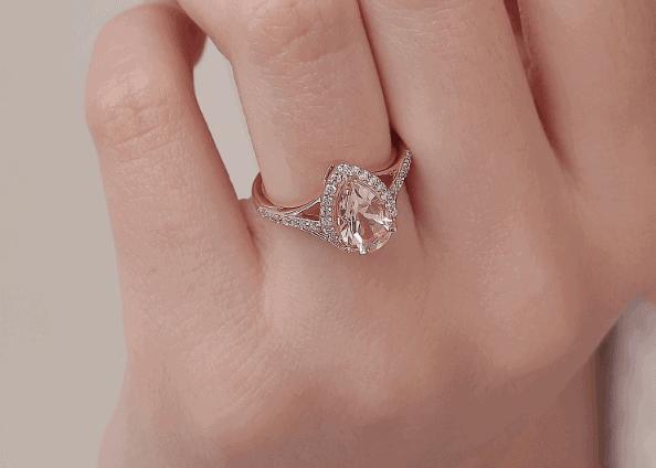 angara morganite ring