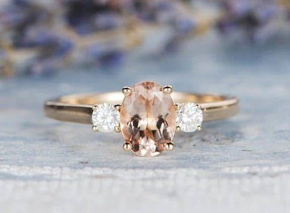 ring with morganite stone