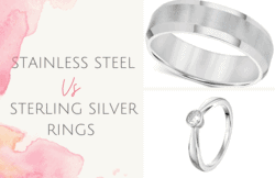 Stainless Steel vs Sterling Silver Rings