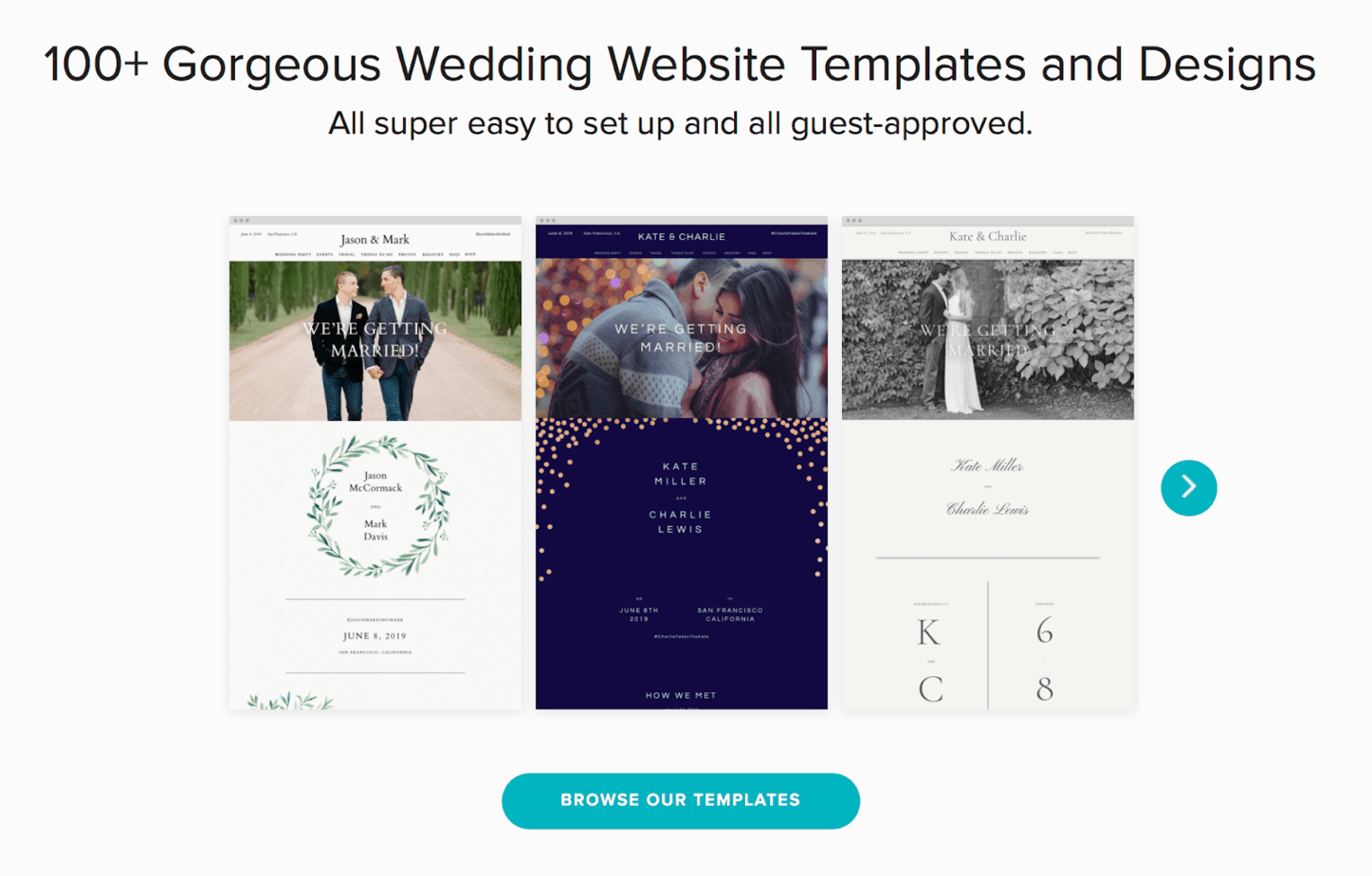 zola website templates and designs
