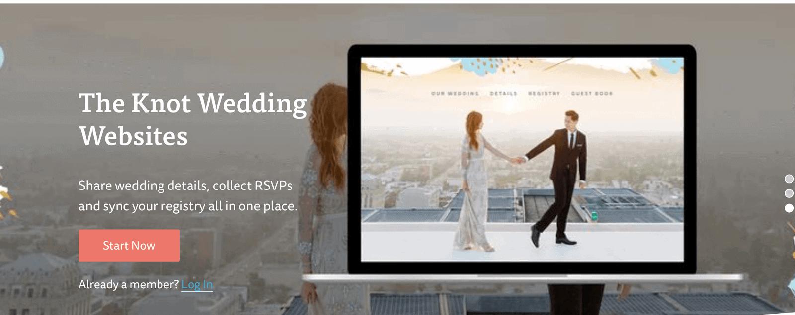 the Knot Wedding Websites