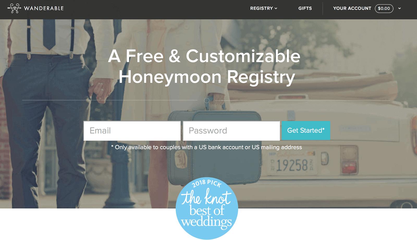 wanderable homepage