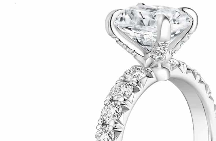 Ellora Diamond Engagement Ring with0.75 Carat Heart Diamond
