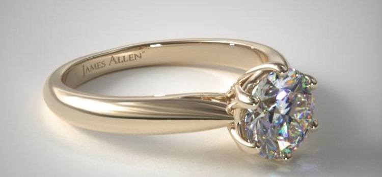 James Allen Heart Shaped Solitaire Engagement Ring