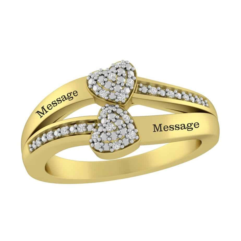 Best Friend Diamond Ring Ideas engraved heart