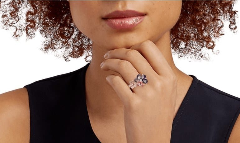 Best Floral Style Engagement Ring in black