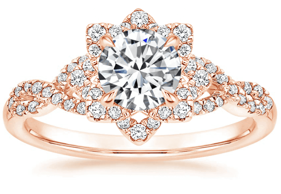 Best Floral Style Engagement Ring brilliant earth