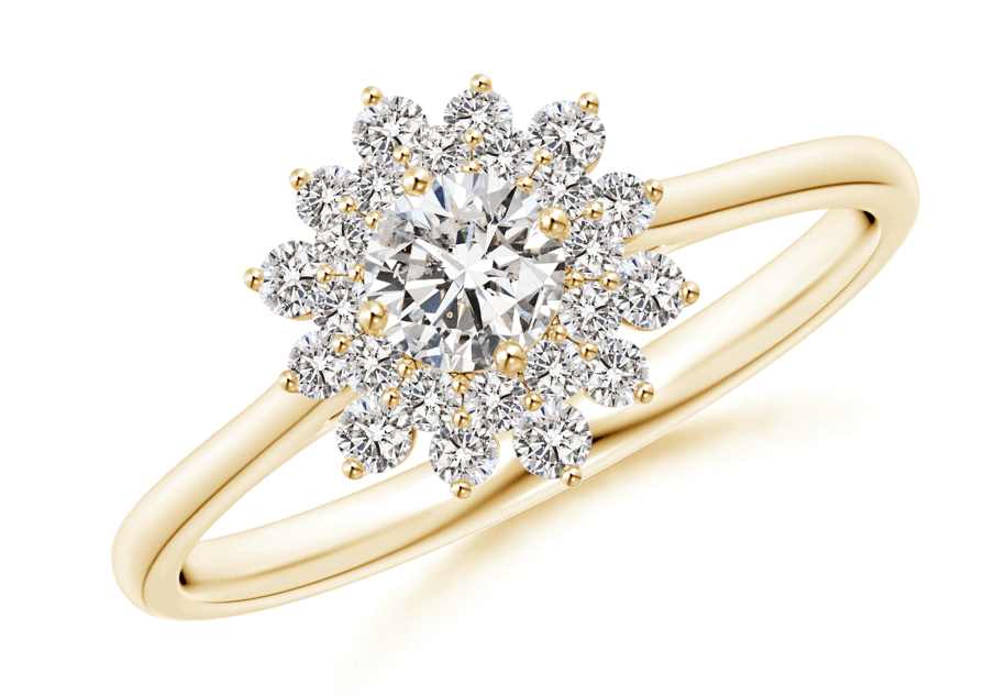Best Floral Style Engagement Ring angara classic