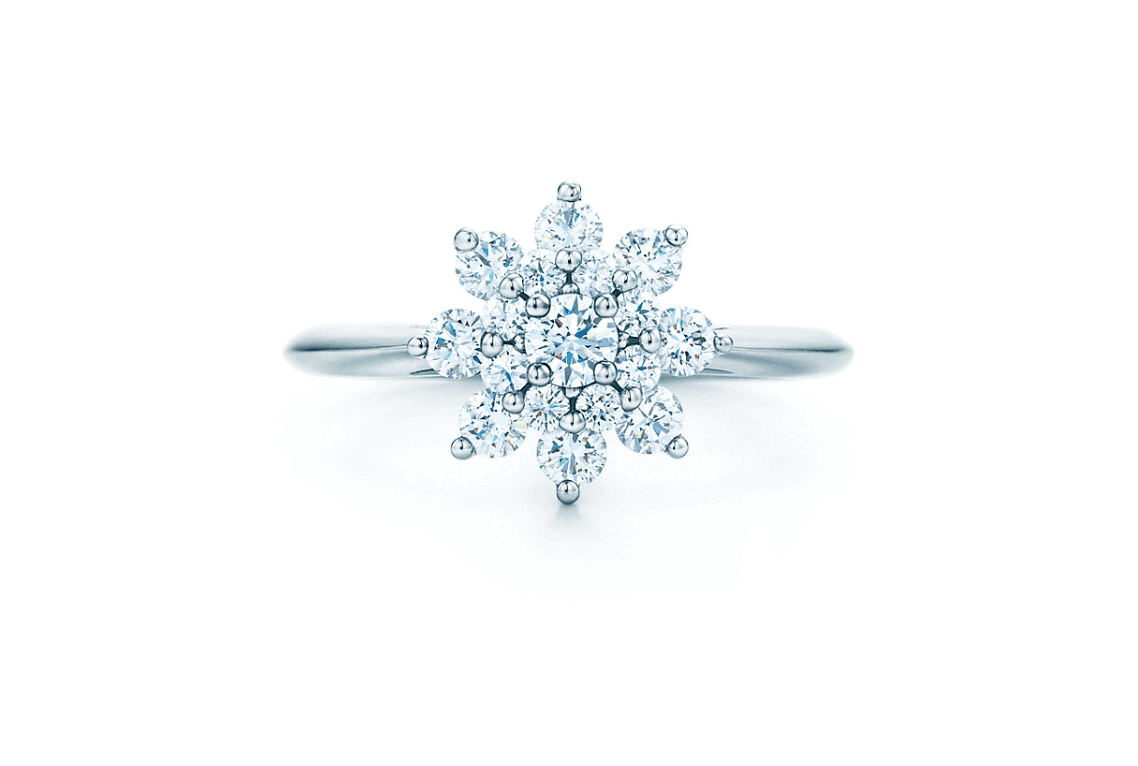 Best Floral Style Engagement Ring tiffany and co