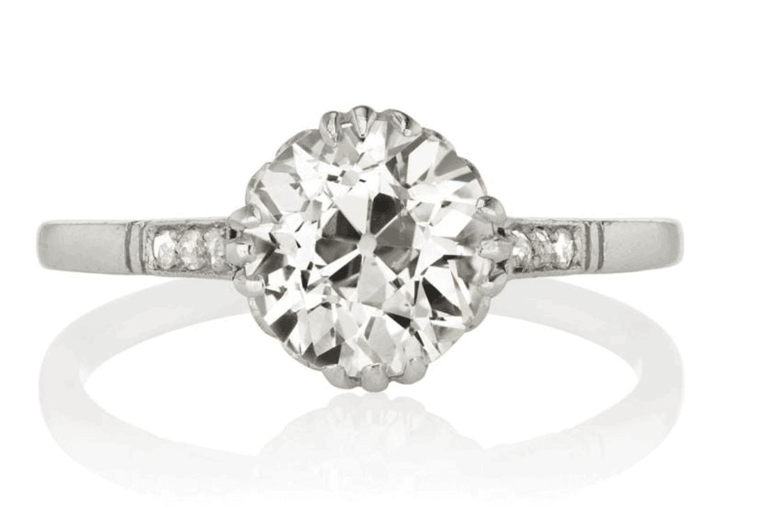 Best Old European Cut Diamond Ideas barbone ring