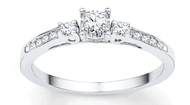 Best Friend Diamond Ring Ideas white gold ring
