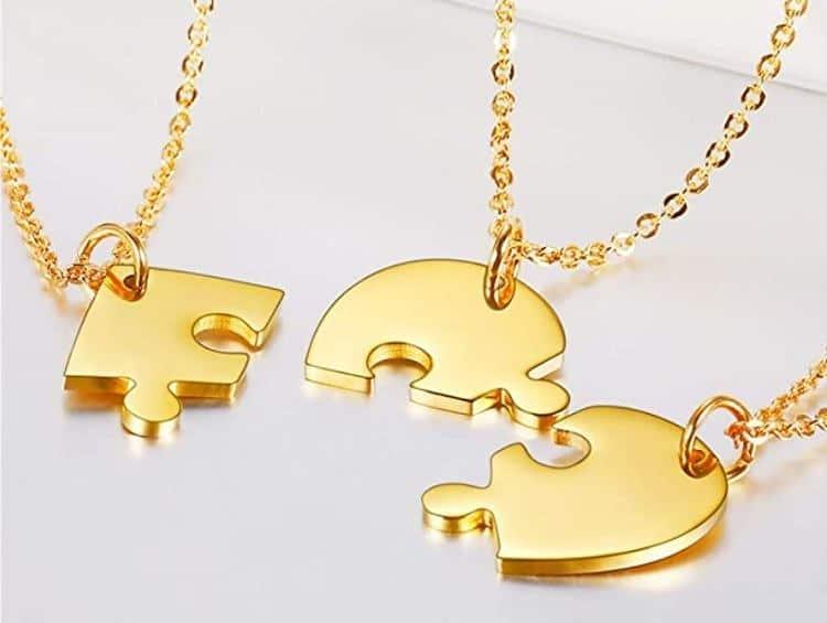 Bestie Friendship Necklaces with Permanent est. Date