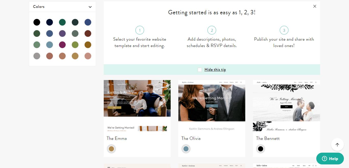 Blueprint Wedding Website