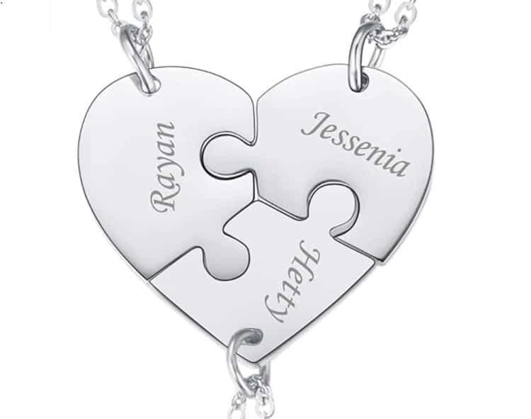 Best Friend Necklace Ideas Broken Heart Pieces Necklaces