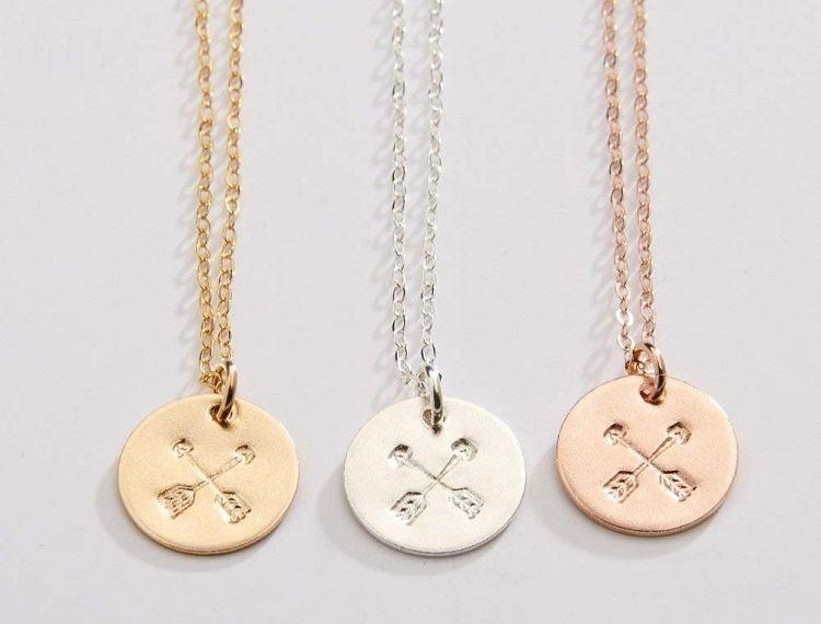 Best Friend Necklace Ideas Crossed Arrows Necklaces