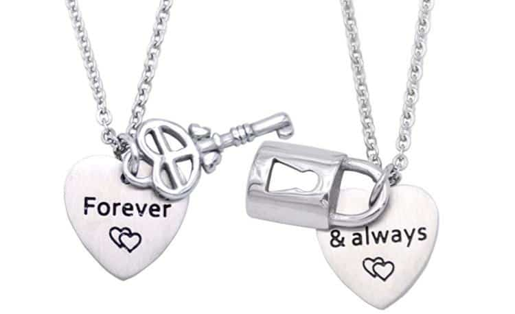 Lock and Key BFF Necklaces