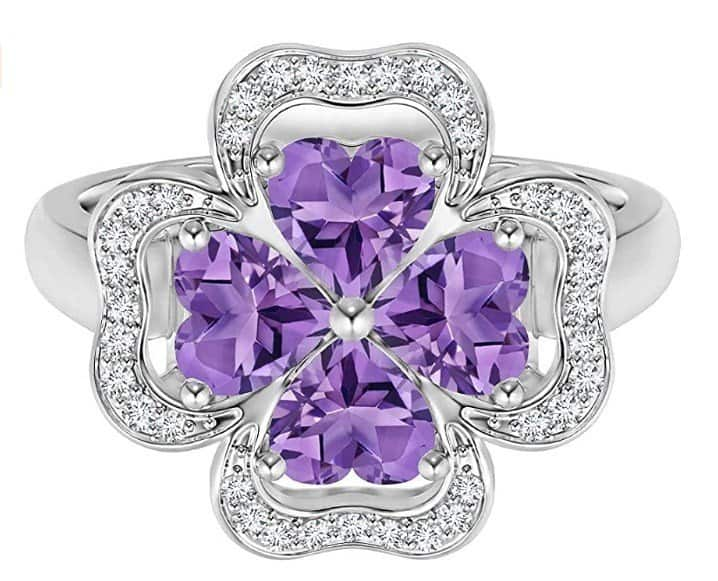 Nature-Inspired Amethyst Ring