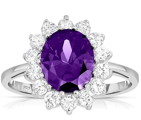 Royal Amethyst Engagement Ring