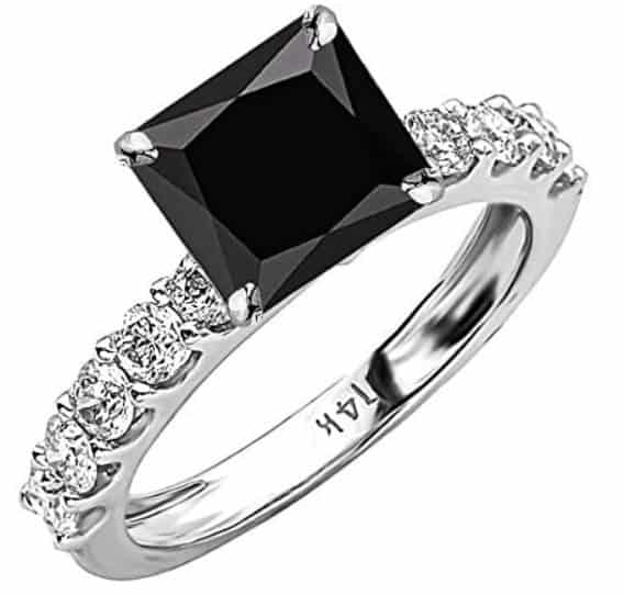 14k White Gold Classic Side